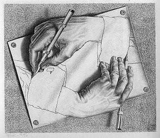 Escher Drawing Hands